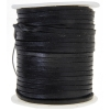 Leather Flat Cord 3mm Black